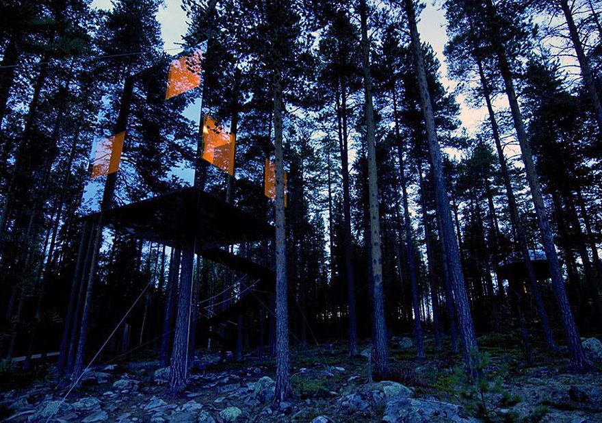 Ayna Ağaç Evi - İsveç