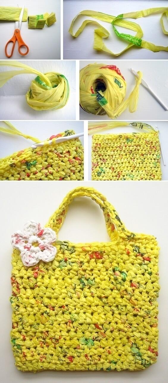 Plastik poşetten çanta